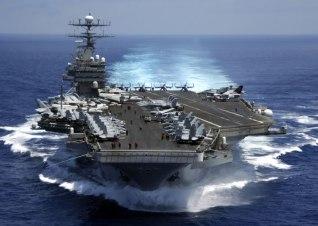 The USS Nimitz aircraft carrier